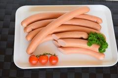 Salsiccia della salciccia, Wienerwurst, alimento, salsiccia tedesca della salciccia, Wurst della salciccia Immagini Stock