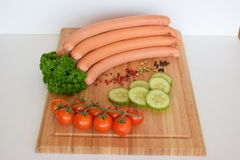 Salsiccia della salciccia, Wienerwurst, alimento, salsiccia tedesca della salciccia, Wurst della salciccia Fotografia Stock