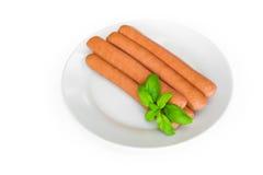 Salsiccia di Francoforte Immagini Stock