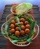 Salsiccia di maiale acida tailandese Immagini Stock