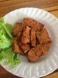 Salsiccia di maiale fritta Immagine Stock Libera da Diritti