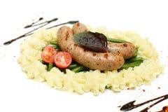 Salsiccia di Weisswurst, alimento tedesco fotografia stock libera da diritti