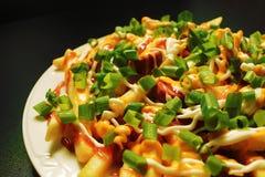 Salsiccia e fritture fritte Immagini Stock