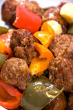 Salsiccia e peperoni Fotografia Stock Libera da Diritti