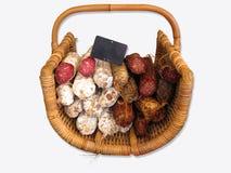 Salsiccia e salame Fotografie Stock
