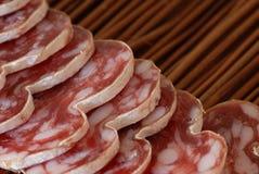 Salsiccia ed aperitivo francesi Fotografia Stock