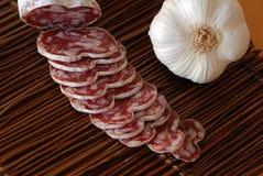 Salsiccia ed aperitivo francesi Fotografie Stock Libere da Diritti