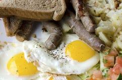 Salsiccia ed uova Fotografie Stock Libere da Diritti