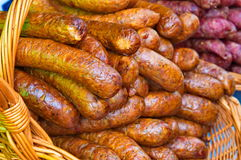 Salsiccia fresca Immagini Stock Libere da Diritti