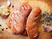 Salsiccia fritta deliziosa Fotografia Stock