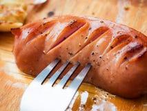 Salsiccia fritta deliziosa Fotografia Stock Libera da Diritti