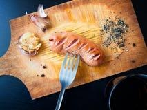 Salsiccia fritta deliziosa Immagini Stock