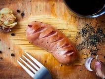 Salsiccia fritta deliziosa Fotografie Stock