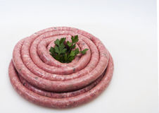 Salsiccia grezza fresca Fotografie Stock