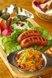 Salsiccia-griglia bavarese Fotografia Stock Libera da Diritti