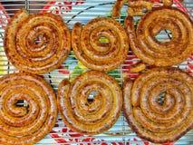 Salsiccia piccante tailandese nordica Immagine Stock