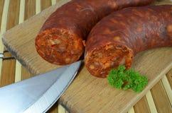 Salsiccia saporita del chorizo Immagine Stock Libera da Diritti