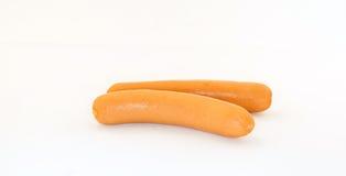 Salsiccia su priorità bassa bianca Fotografia Stock