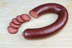 Salsiccia turca tradizionale, fine sull'immagine fotografie stock libere da diritti