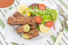 Salsiccia vegetariana Fotografia Stock
