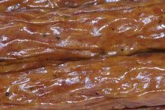 Salsiccie affumicate Fotografie Stock