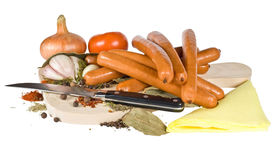 Salsiccie affumicate Immagine Stock