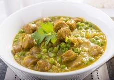 Salsiccie al curry Fotografie Stock Libere da Diritti