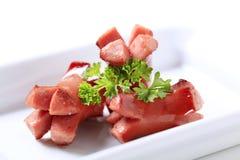 Salsiccie arrostite Immagini Stock