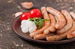 Salsiccie arrostite Fotografie Stock