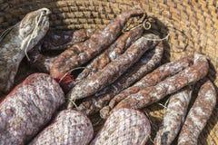 Salsiccie asciutte francesi immagini stock