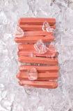 Salsiccie con i cubetti di ghiaccio V Immagine Stock Libera da Diritti