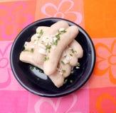 Salsiccie congelate Immagine Stock