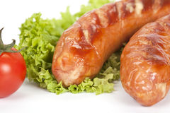 Salsiccie cotte Immagini Stock