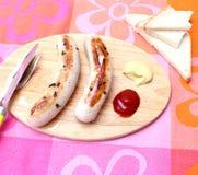 Salsiccie cotte Immagini Stock Libere da Diritti