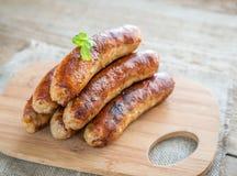 Salsiccie cotte fotografie stock