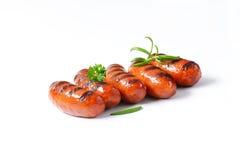 Salsiccie cotte immagine stock