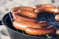 Salsiccie del barbecue Immagine Stock