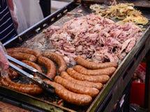 Salsiccie del barbecue immagini stock libere da diritti