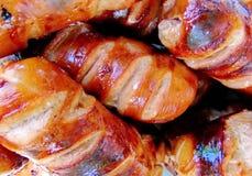 Salsiccie dell'arrosto Fotografia Stock