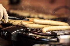 Salsiccie della griglia Immagine Stock