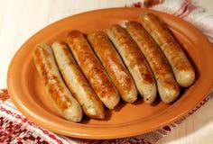 Salsiccie della griglia del barbecue Fotografia Stock
