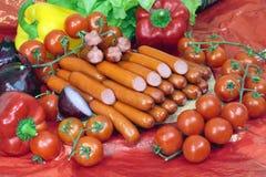 Salsiccie di Francoforte Immagine Stock