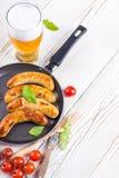 Salsiccie di Monaco di Baviera Immagini Stock