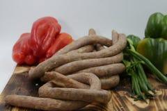 Salsiccie domenicane & x28; Longaniza & x29; Immagini Stock