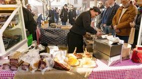Salsiccie e carne norvegesi secche e fumate Fotografia Stock