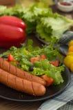 Salsiccie e verdure cotte Immagine Stock Libera da Diritti