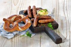 Salsiccie fritte immagine stock