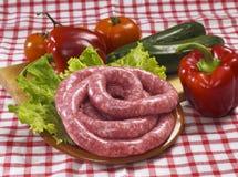 Salsiccie grezze italiane immagini stock libere da diritti
