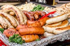 Salsiccie grigliate Fotografia Stock