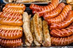 Salsiccie grigliate Immagini Stock Libere da Diritti